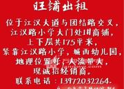 (出租) 江汉大道 商业街商铺 175平米