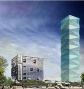 《河西金奥》真正的高区整层面积无敌视野+采光佳!金奥大厦