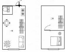 (出售)急售 凤凰汇挑高公寓 面积47平 实际面积90平 59.8万